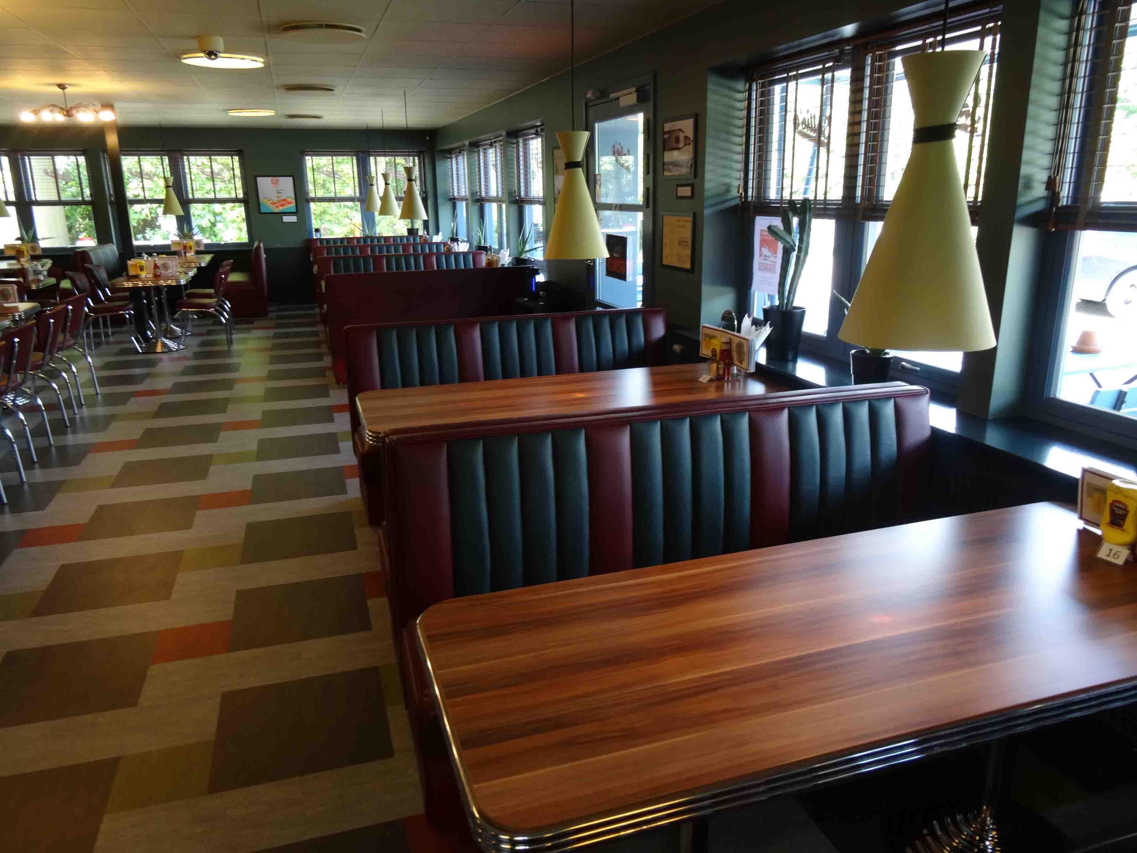 American 50s Retro Diner Booth Diner Restaurant Diner Cafe