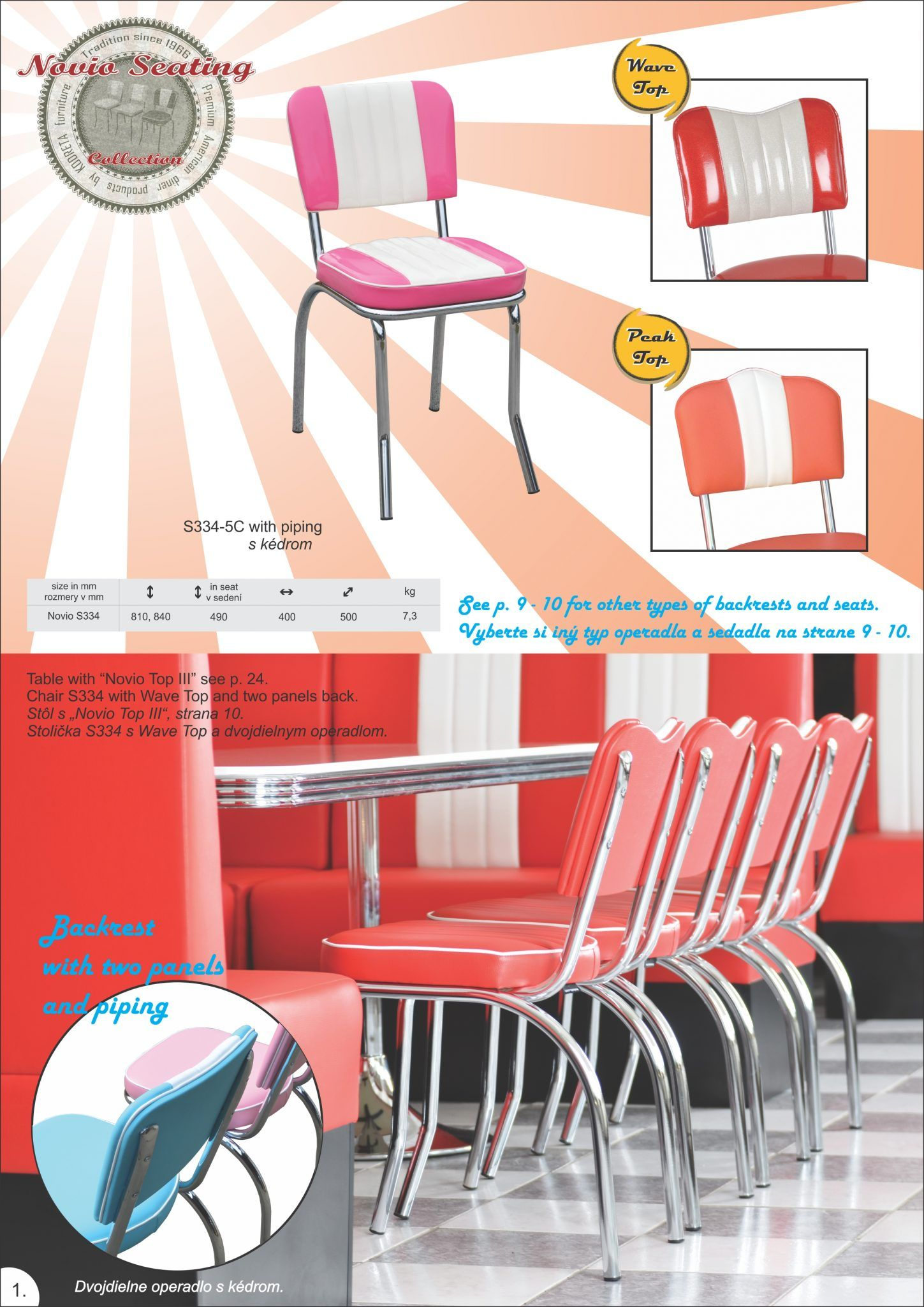 American 50s Diner Furniture Catalogue Online