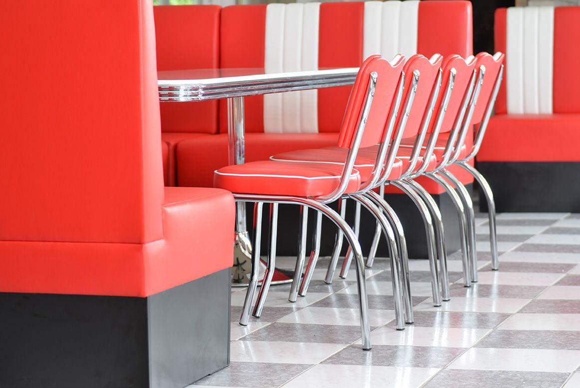 american 50s retro diner furniture diner chairs booths tables diner moebel. Black Bedroom Furniture Sets. Home Design Ideas