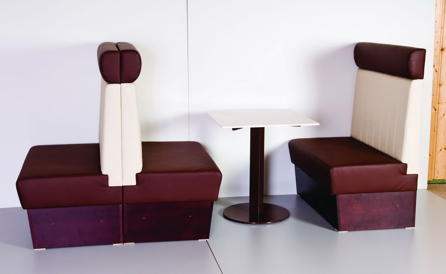 Diner Booth With Headrest Comfortable Seating Booth