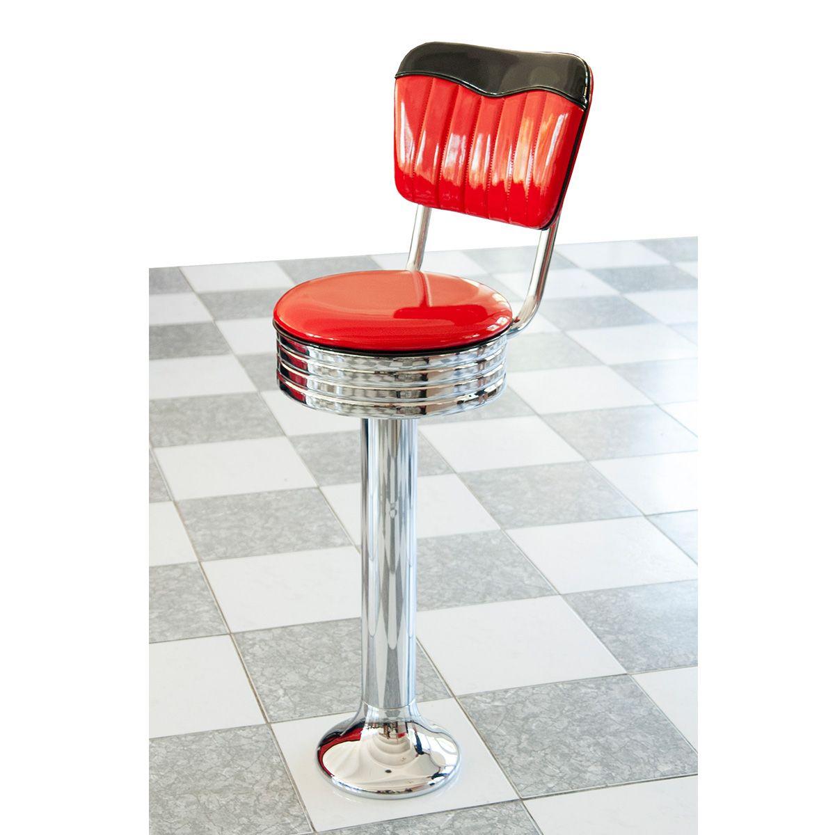 Floor Fastening Diner Bar Stool American Diner Bar Stool