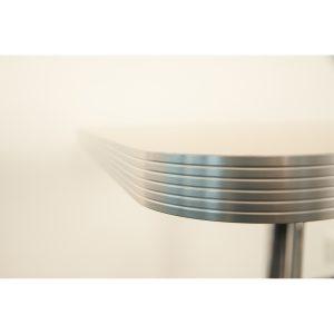 aluminum edge table